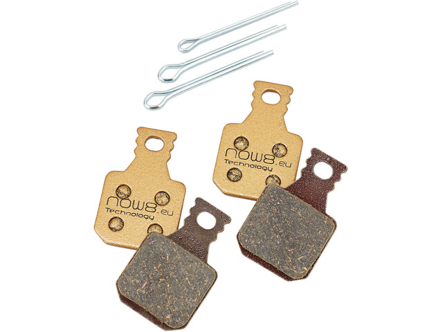 NOW8 E-Bike Gold Disc Brake Pads CC3Xplus for Magura MT 5/7 gold